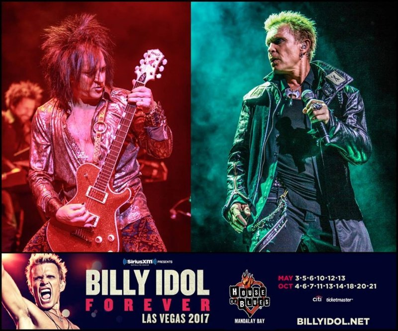 Check out BILLY IDOL when he performs in Las Vegas in 2017!