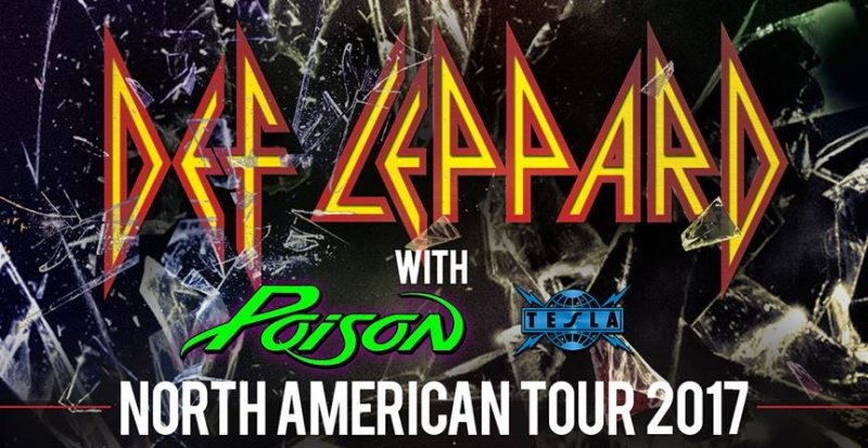 Don't miss your chance to see DEF LEPPARD with POISON and TESLA!