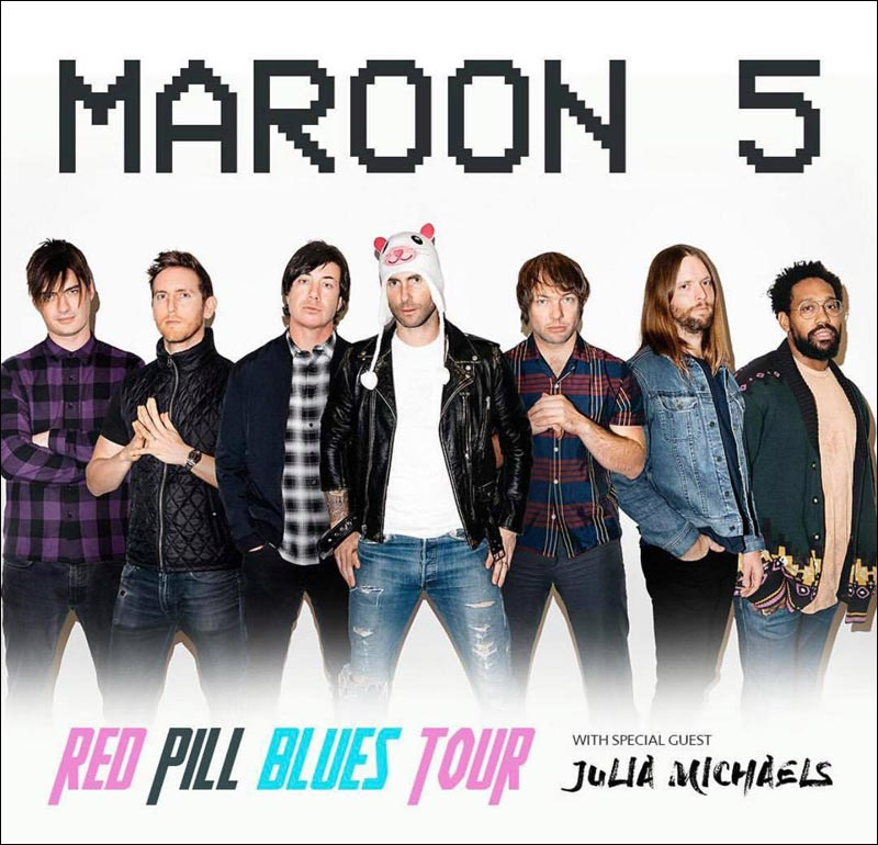 Maroon 5 Red Pill Blues 2018 - Look for their concerts near you!