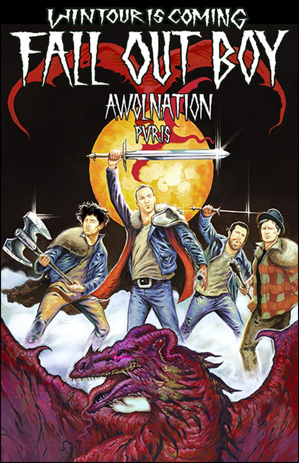 FALL OUT BOY Will Be On Tour with Awolnation Beginning of February 2016.
