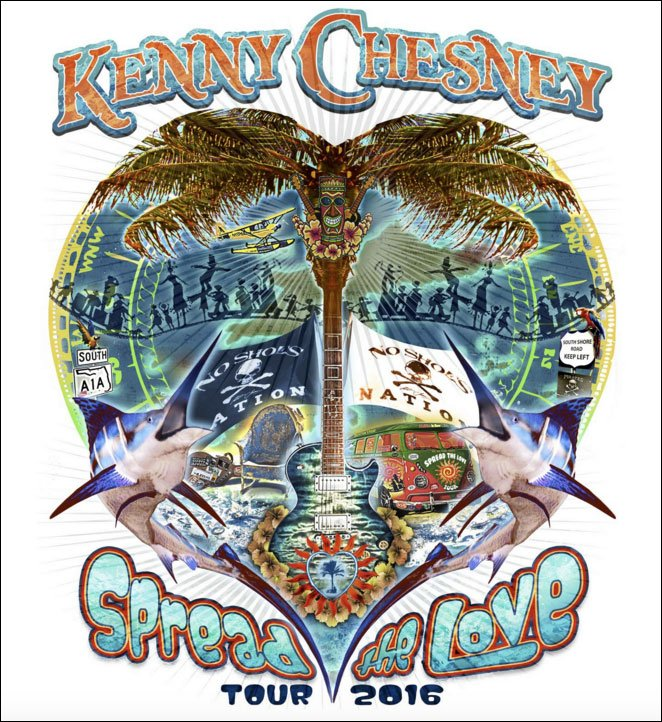 Kenny Chesney is all ready for his 2016 'Spread The Love Tour'. Are you going to go?