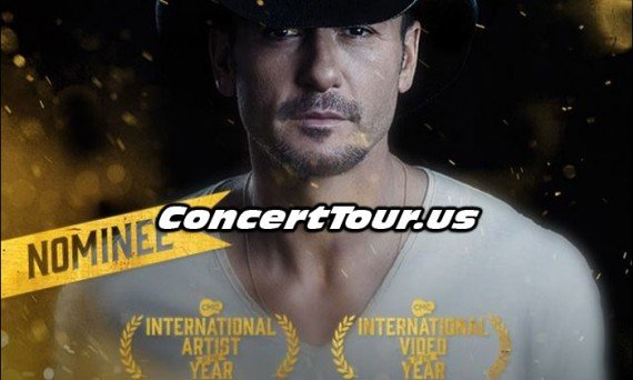 Tim McGraw Nominated For 2 CMC Awards!
