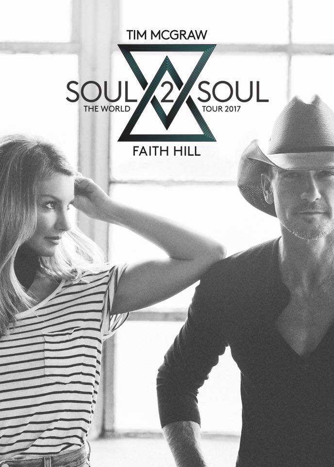 Don't miss the Soul2Soul Tour with Tim McGraw and Faith Hill.