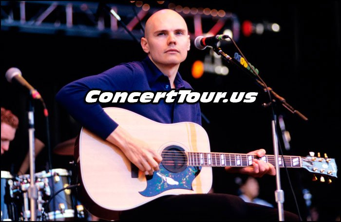 Billy Corgan Playing Guitar For The Smashing Pumpkins