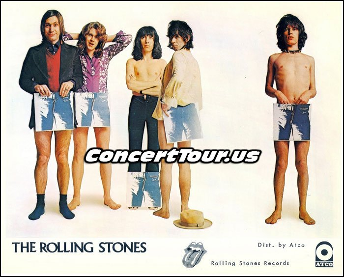 Rolling Stones Vintage Photo For Their Album 'Sticky Fingers'.