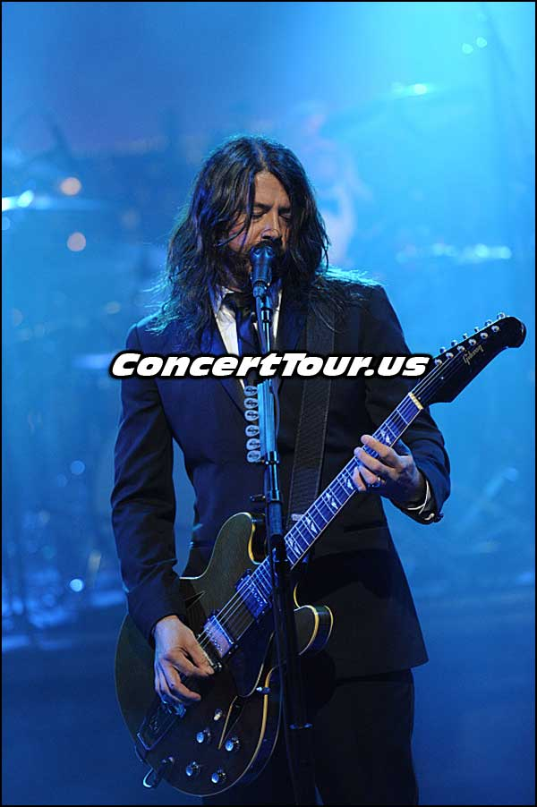 Foo Fighters Play Live On The Final Night of The Late Show With David Letterman