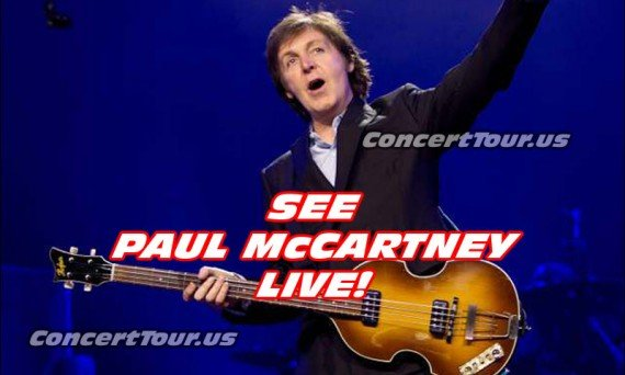 Don't miss your chance to see Paul McCartney live in concert this year!