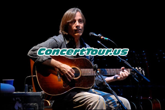 Jackson Browne Performs Live On Stage During One of his Concerts...