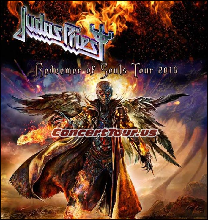 Judas Priest carries on with their Reedemer Of Souls Tour in 2015. See them live in concert now!