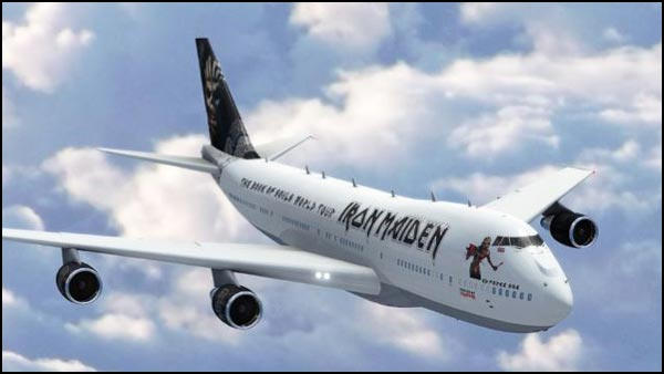 ED FORCE ONE Airplane. The 747 that IRON MAIDEN will be using on their Book of Souls World Tour!