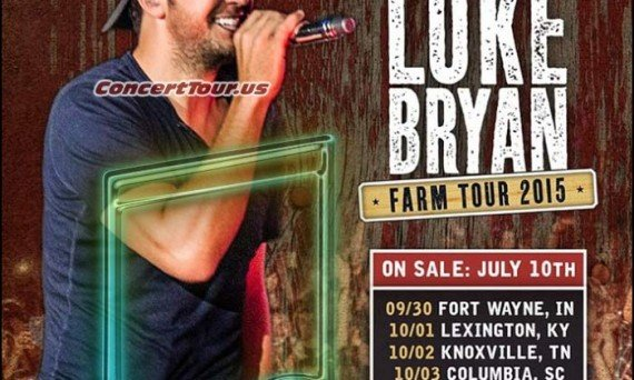LUKE BRYAN is ready for his 2015 Farm Tour! He'll be joined by Sam Hunt, Chris Janson & More!