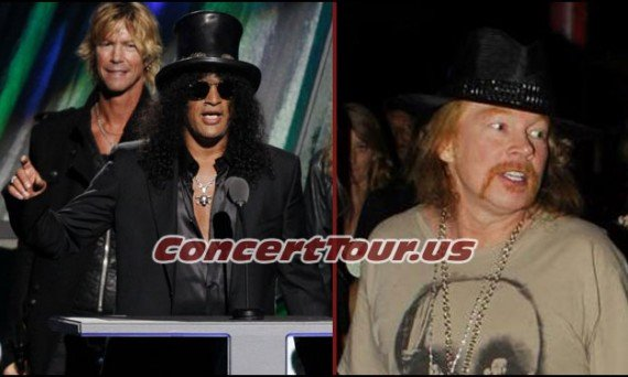Guitarist SLASH and Singer AXL ROSE have mended their fence and are 'Very Cool' with each other now!