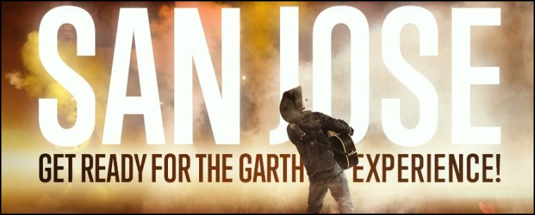 Garth Brooks Announces Concerts In San Jose California! First time in 18 years!