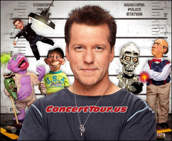 Here is JEFF DUNHAM with most of his characters and crew. Jose Jalapeno On A Stick, Peanut, Bubba J, Achmed, Walter and Little Jeff.