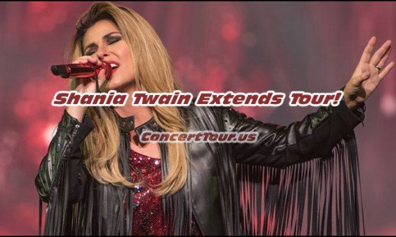 Shania Twain Extends Her 'Rock This Country Tour' and Fans Couldn't Be Happier.