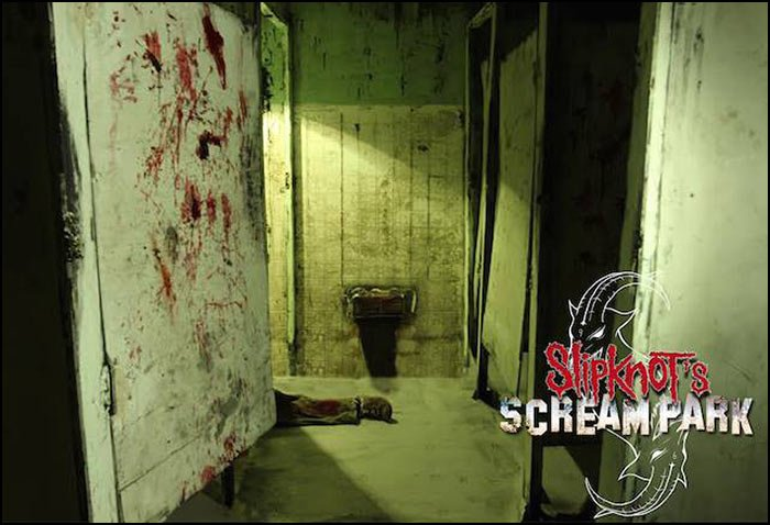 You'll encounter scenes like this while walking through Slipknot's Scream Park!