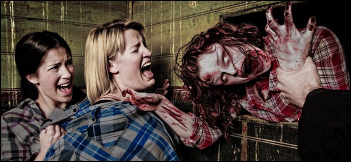 Terrifying scene of one of the 'attractions' at Slipknot's Scream Park.