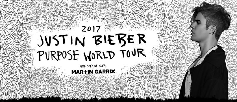 Don't miss your chance to see Justin Bieber live in concert in 2017!