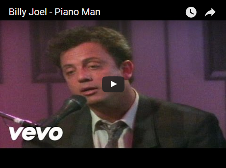 Billy Joel performs his hit song Piano Man back in 1985