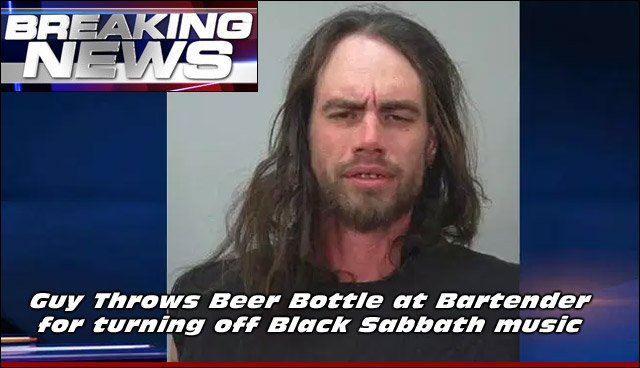 Here's a picture of Christopher Gamboeck, We're Guessing It's His Mugshot From His Arrest. Don't Turn Off His BLACK SABBATH Music!!