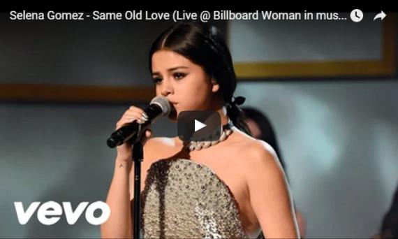 Selena Gomez sings Same Old Love at Billboard's Women In Music Event