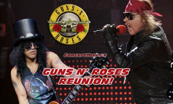 It's Official! There will be a Guns N' Roses reunion between Axl, Slash and the original band. They'll be playing at the 2016 Coachella Music Festival.
