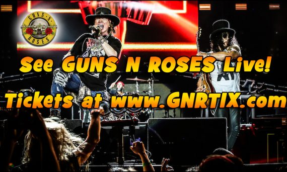 Don't miss you chance to see Guns N Roses live in 2017.