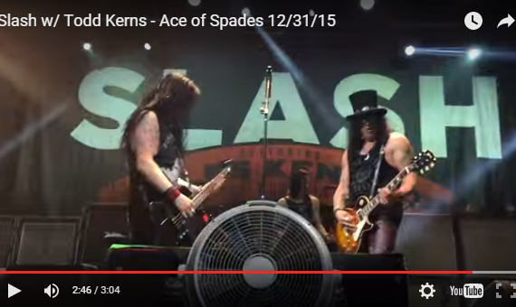 SLASH Performs on stage with Todd Kerns at the House of Blues in Las Vegas on NYE. They played Ace of Spades in honor of Lemmy from Motorhead.