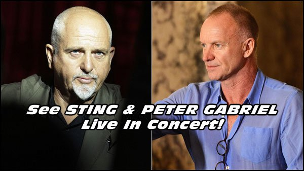 Prepare yourselves for the Sting and Peter Gabriel Tour, Watch Over 110 of their Music Videos right here.
