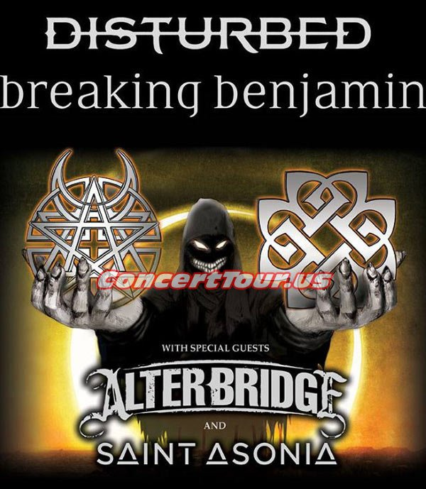 The Summer of 2016 Looks to be a Hot One! Both DISTURBED and Breaking Benjamin will be on tour together!
