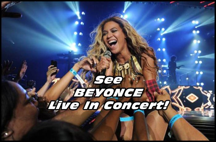 One of these excited fans could be you! This is your chance to see Beyonce live in concert!