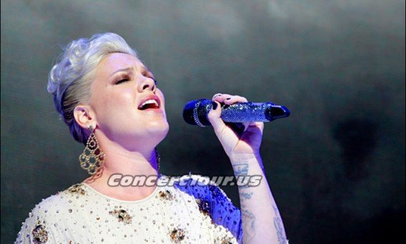 P!NK Looks Great in this Recent Picture of her Singing Live. Fans are hoping for some sort of concert announcement now.