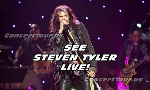 This is a chance for you to see Steven Tyler live in concert! Don't miss this great opportunity.