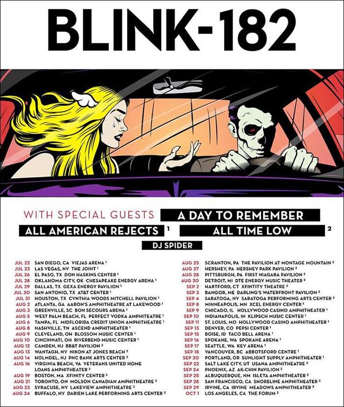 Blink 182 Tour | 2016 - 2017 Blink 182 Concert Tour Dates | Concert ...