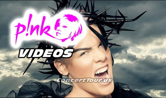 Check out some of P!NK's very popular music videos. Including 'Just Like Fire'.
