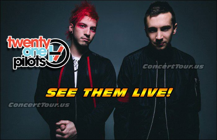 Don't miss your chance to see the extraordinary Twenty One Pilots (21P) live in concert this year!