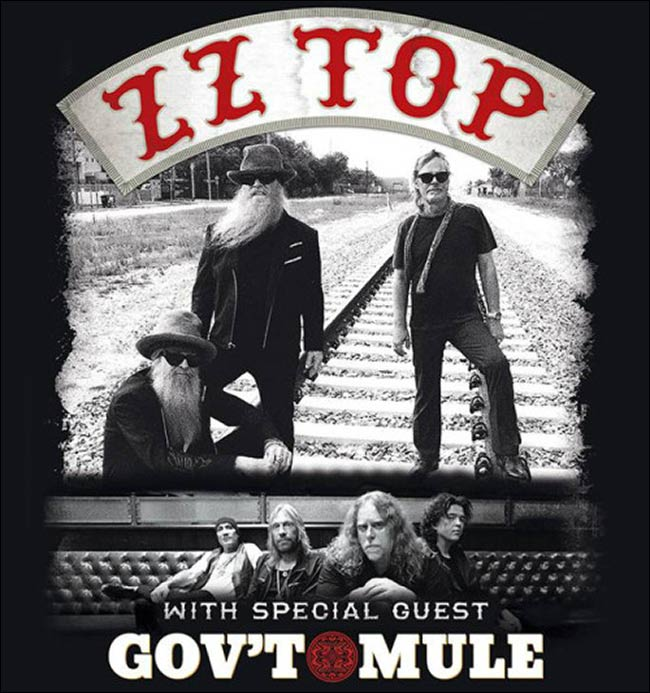 Don't miss your chance to see an awesome live show of ZZ Top and Gov't Mule!