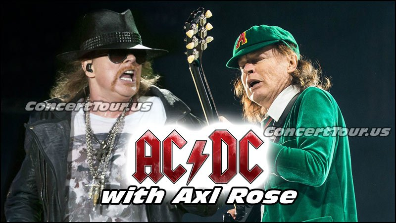 AC/DC with Axl Rose will finish up the postponed shows from the AC/DC Tour