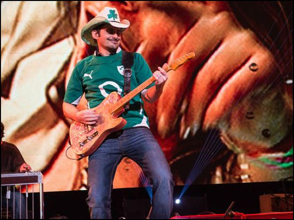 Brad Paisley plays in Dublin, Ireland.