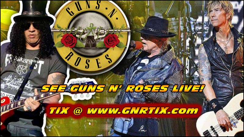 Don't Miss Your Chance To See Guns N' Roses live in concert with some other great bands as opening acts.