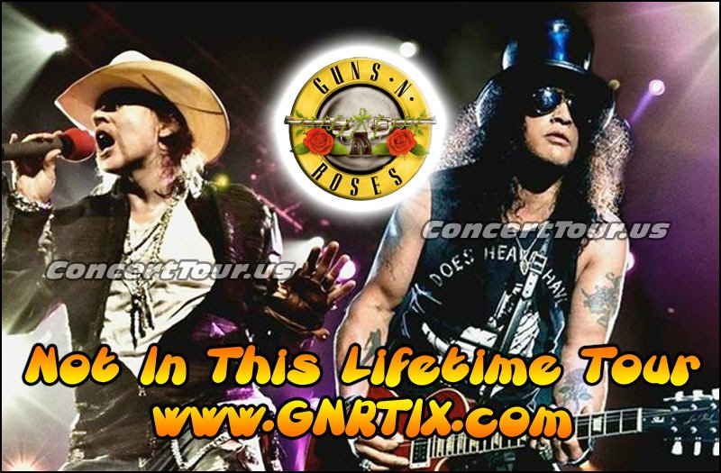 Don't miss your chance to see Guns N' Roses live at a venue near you!