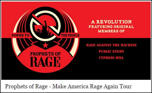 Don't Miss Your Chance To See Prophets of Rage perform at a venue near you!