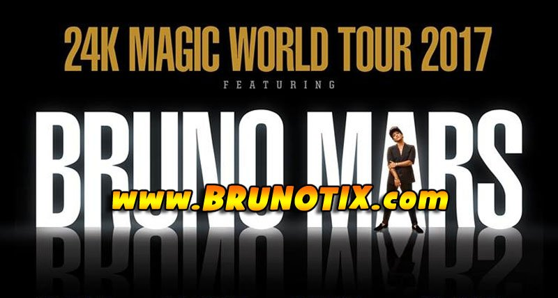 Don't miss your chance to see Bruno Mars on his 24K Magic World Tour!