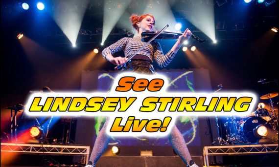 Here's a great picture of Lindsey Stirling live in concert!