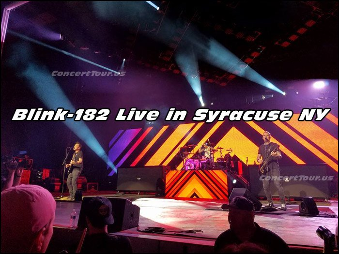 This pic was taken by a fan at the Blink-182 concert at Lakeview Amphitheater in Syracuse NY (Thanks Brian!)