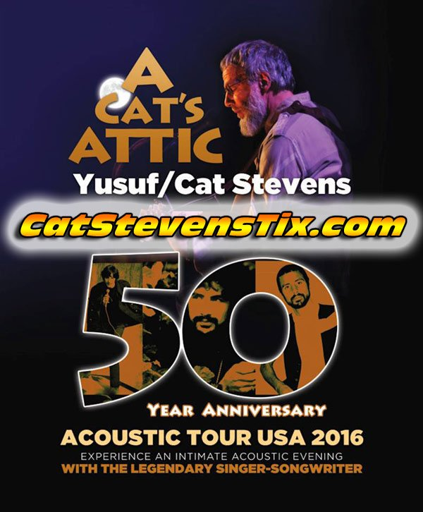 Don't miss this HUGE opportunity to see a musical icon live in concert. CAT STEVENS is back!