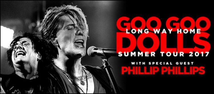 Don't miss your chance to see the Goo Goo Dolls on tour this year. Phillip Phillips will be with them!