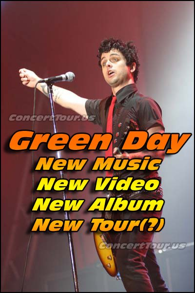 As big Green Day fans, we can not wait for the new album, and then of course we can't wait for them to tour.