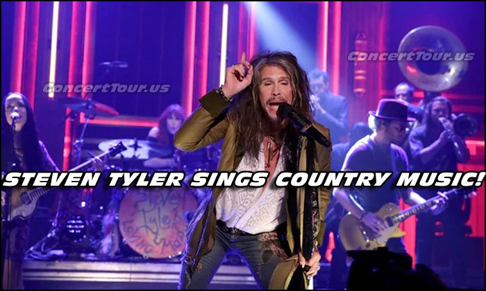 Here's Steven Tyler doin' his thing! Shot when he performed live on The Tonight Show on NBC.