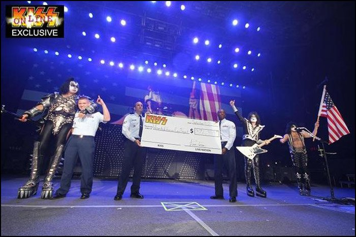 Still Picture of KISS honoring The US Military (which they've done MANY MANY times). KISS truly is the Hottest Band In The World! SCROLL DOWN FOR THE VIDEO!